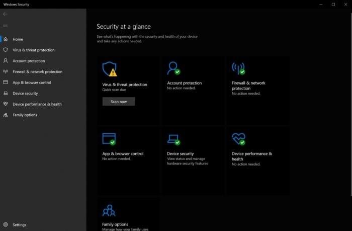 Zabezpečení Windows ve Windows 10