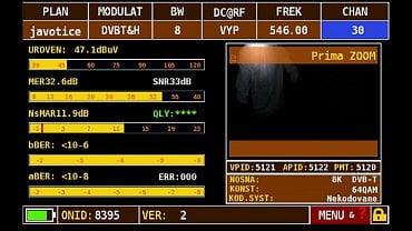 Parametry DVB-T multiplexu 3 bez rušení.