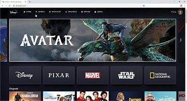 Varianta služby Disney+ pro prohlížeč
