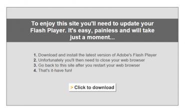 Flash v roce 2015 jako jediný obsah webu? Ano. Stále jsou jich tisíce v Česku a možná stovky tisíc až miliony po celém světě.