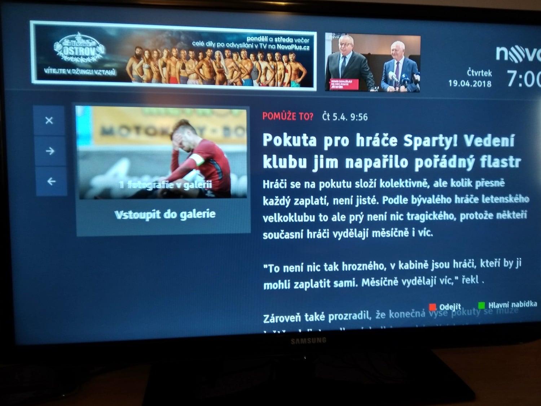 HbbTV Nova - EPG, Sport