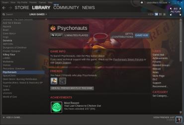 Popisek hry včetně aktivity vašich přátel v seznamu zakoupených aplikací.