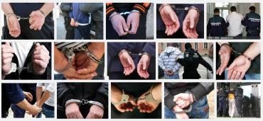 """Obrázky vyhledávače Google po zadání slova """"arestat""""."""