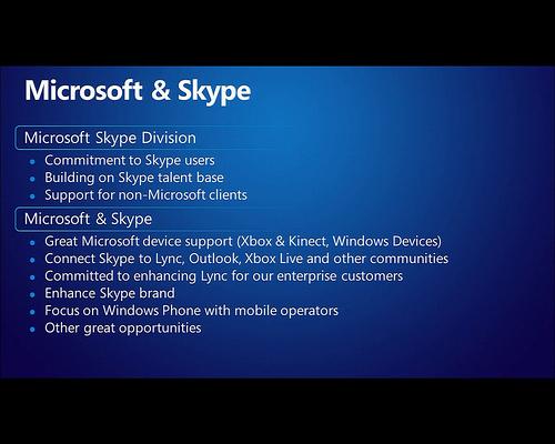 TK Skype Microsoft