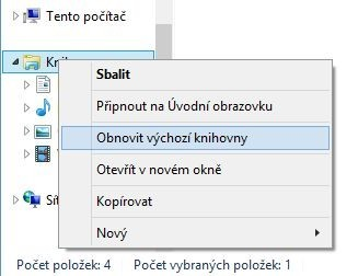 Úklid v nastavení knihoven je velmi jednoduchý. Pozor na to, že Windows se vás nebudou ptát, zda chcete skutečně tuto operaci provést a zrušit přidružení knihoven se složkami.