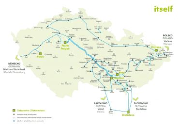 Mapa sítě společnosti itself
