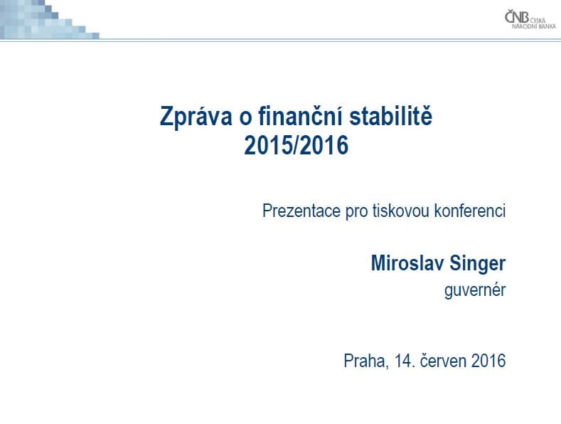 Zpráva o finanční stabilitě 2015/2016