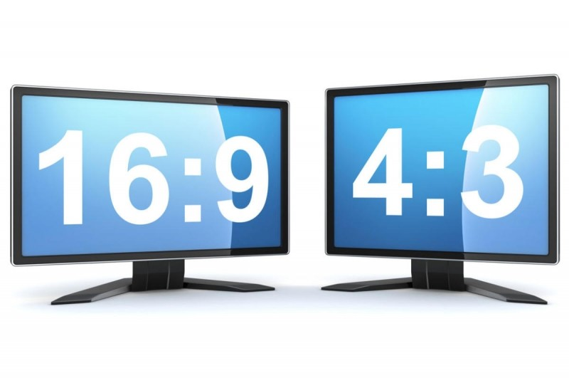 Prakticky všechny soudobé televizory dnes mají poměr stran 16:9, poměr 4:3, který se blížil čtverci se dnes považuje za zastaralý.