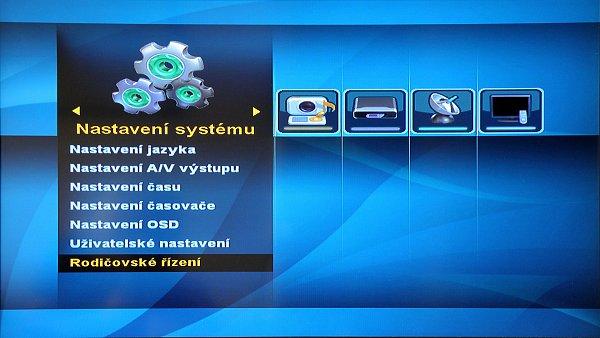 Výstupní rozlišení obrazu: 576i, 576p, 720p, 1080i, max. 1920x1080p pomocí HDMI