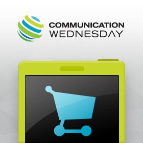 Logo E-komerce v mobilu