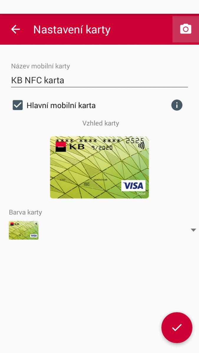 NFC mobilní karta Komerční banky