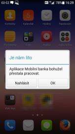 I takové hlášení se vám může při používání NFC karty Komerčky zobrazit. Ale týká se to i ČSOB.