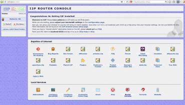 Konfigurační konzole I2P Routeru