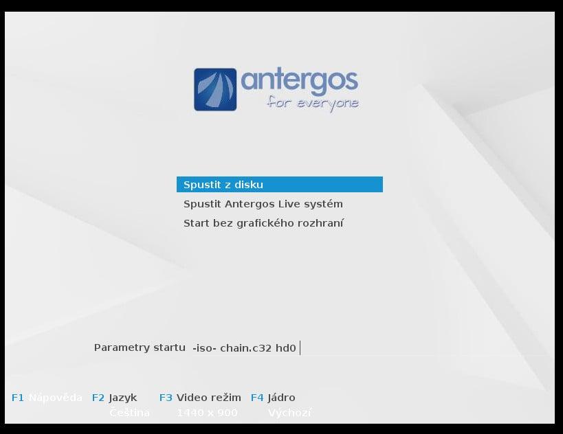 Antergos: instalátor Cnchi