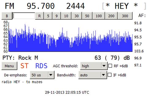 Původní RDS rozhlasové stanice Rádio Hey!