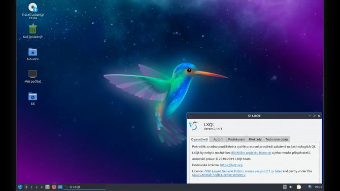 Pohled na Lubuntu 19.04:přináší LXQt 0.14a zůstává vpůli cesty