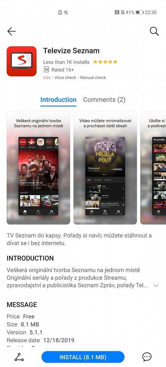 Seznam, Mall.TV nebo Alza. České aplikace v Huawei AppGallery