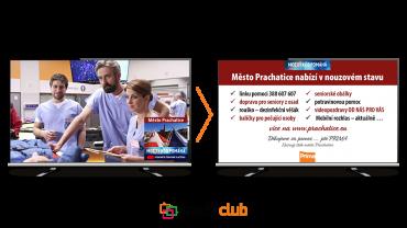 Informace o koronaviru pro diváky TV Prima v Prachaticích