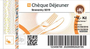 Papírová stravenka Chèque Déjeuner platná do 31. prosince 2019.