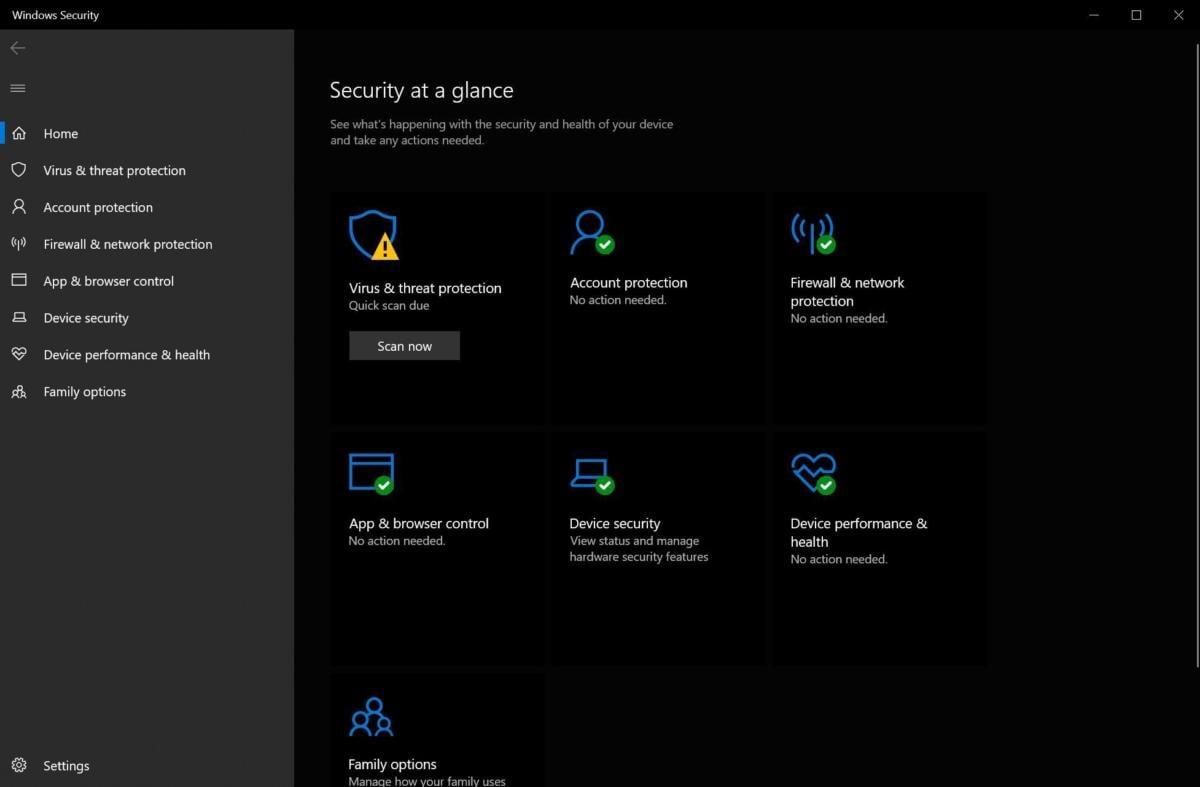 Zabezpečení Windows v operačním systému Windows 10