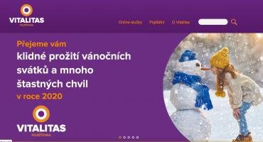 Vánoční přání od Vitalitas pojišťovny v roce 2019.
