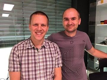 Hardwarový manažer Seznamu Miroslav Bezdička (vlevo) a Pavel Zima