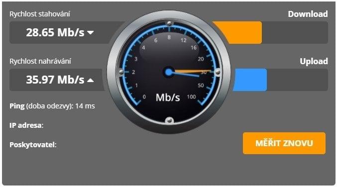 Rychlost internetového připojení