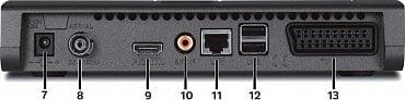 TechniSat DigiPal DAB+ – zadní strana.