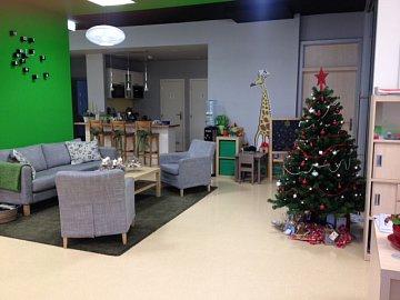 Vánoční výzdoba v Hypoteční bance