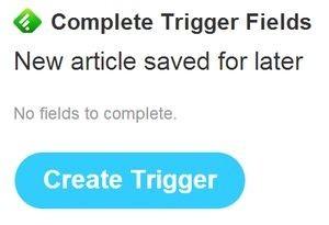 Vytvoření triggeru v IFTTT