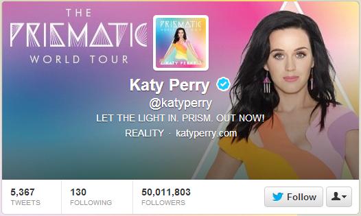 Katy Perry (@katyperry) prolomila 50 milionů sledujících