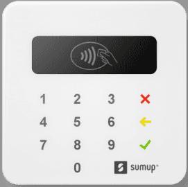 Základní mobilní platební terminál společnosti SumUp