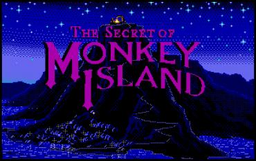 The Secret of Monkey Island - titulní obrazovka - Atari ST.