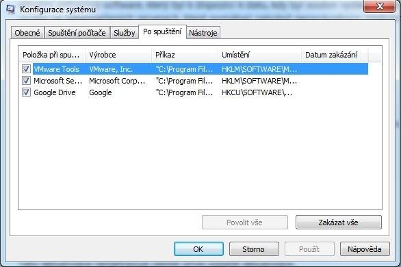 Nástroj pro konfiguraci systému Windows