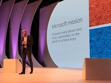 Šéf Microsoftu Satya Nadella v Praze