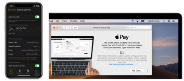 Aktivace Apple Pay pro Apple Watch a MacBook.