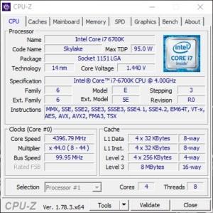 Sledování parametrů CPU pomocí nástroje CPU-Z