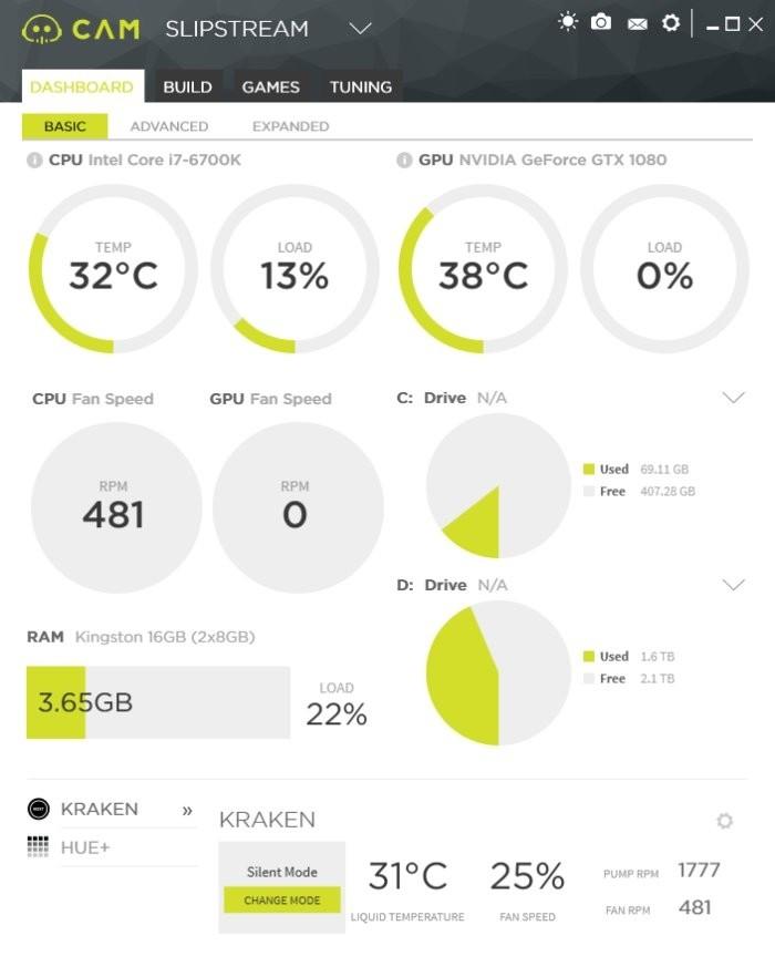 Sledování teploty CPU, zatížení CPU a aktivity větráčků