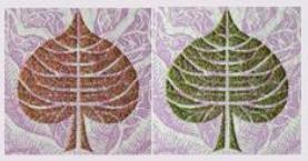 Proměna barev při pohybu bankovky.