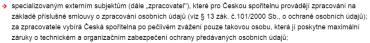 Komu poskytne Česká spořitelna údaje o klientech? (znění jednoho z bodů k 8.2.2016)