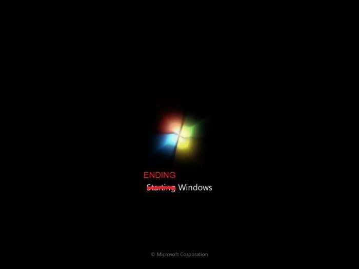 Spouštěcí obrazovka Windows 7