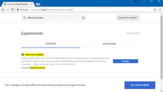 Chrome Strict Site Isolation