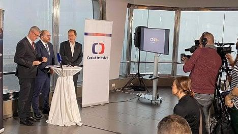Karel Havláček, Vít Vážan, Petr Dvořák na tiskové konferenci k vypínání DVB-T České televize