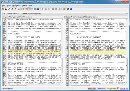 ExamDiff najde změny v souborech