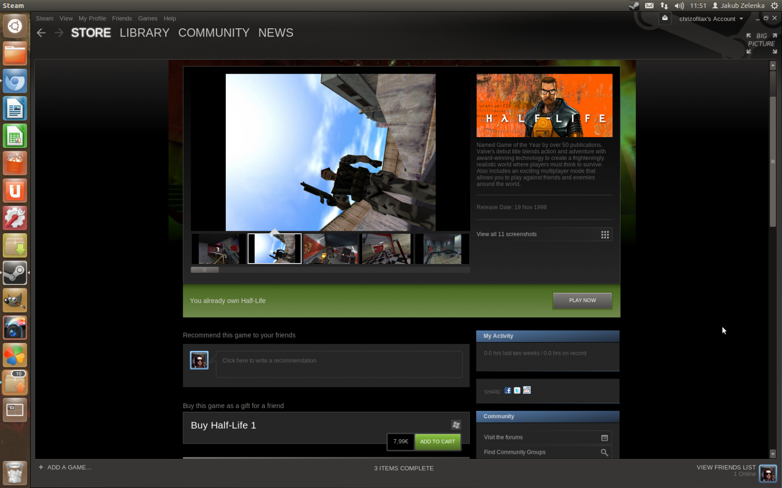Half-Life 1 na Linuxu