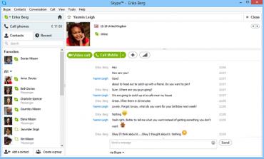 Rozhraní aplikace Skype se v nové verzi přiblížilo stylu Windows 8