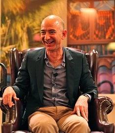 Zakladatel a šéf Amazonu Jeff Bezos.