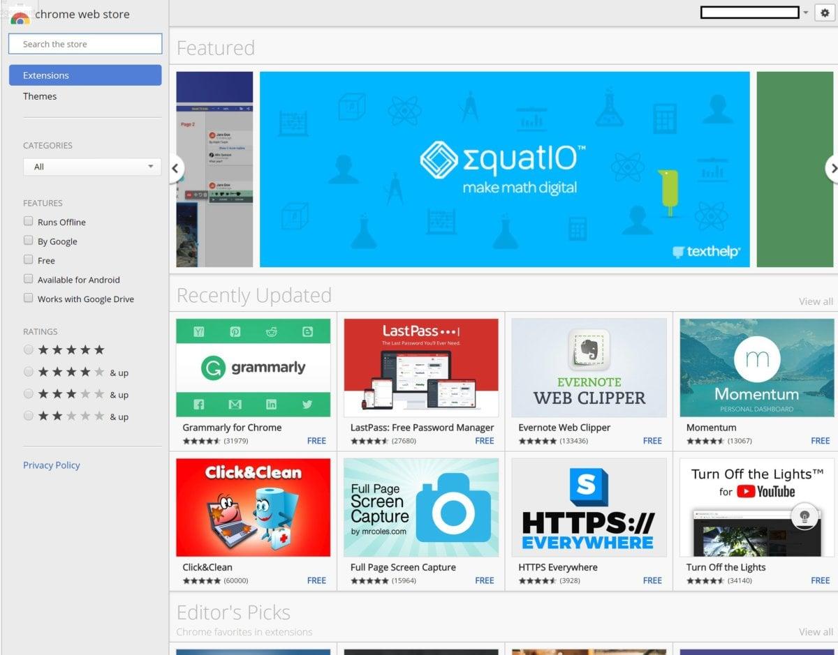 Aplikace pro Chrome OS najdete v internetovém obchodu Chrome Web Store, kde se nachází jak celá řada nástrojů, vzdělávacích programů a spoustu dalšího.