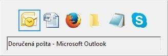 Starší verze seznamu oken vyvolaná klávesovou zkratkou Alt+Tab