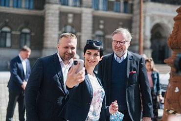 Marian Jurečka, Markéta Pekarová Adamová a Petr Fiala - koalice Spolu